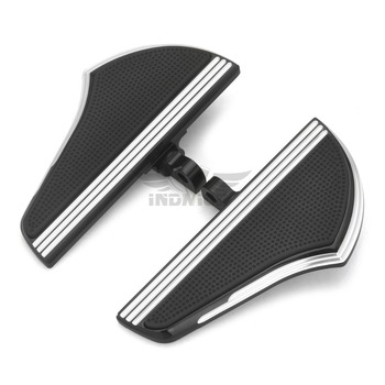CNC Defiance Passenger floorboards pegs Black CNC Male Mount footboards for Harley Touring FLHX PEG Dyna Sportster XL