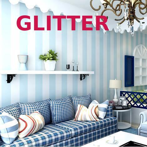 Moderne Woonkamer Behang Roll Pvc Verticale Gestreepte Behang Blauw ...