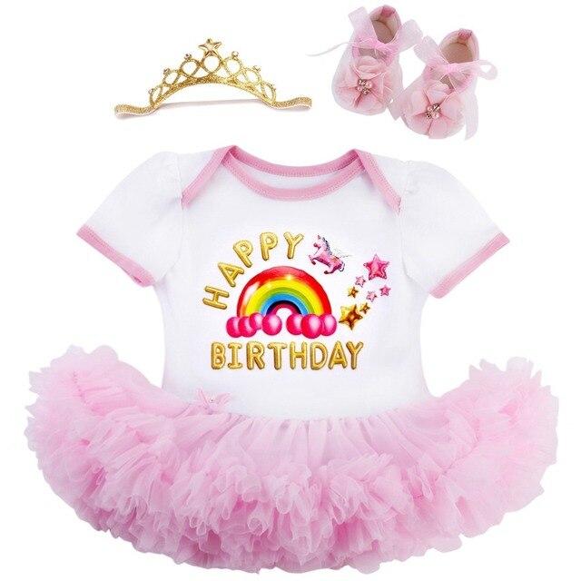 c7ad93565 Verão Roupas de Bebê Da Princesa Tutu Vestido Da Menina Do Bebê Sapatos  Headband do Casamento