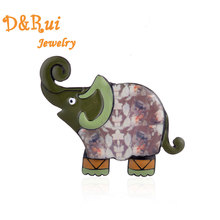 Lucky Elephant Brooches for Women Men Gift Enamel Alloy Cartoon Animal Lapel Pins Badges Fashion Collar Pin Brooch Jewelry 2019