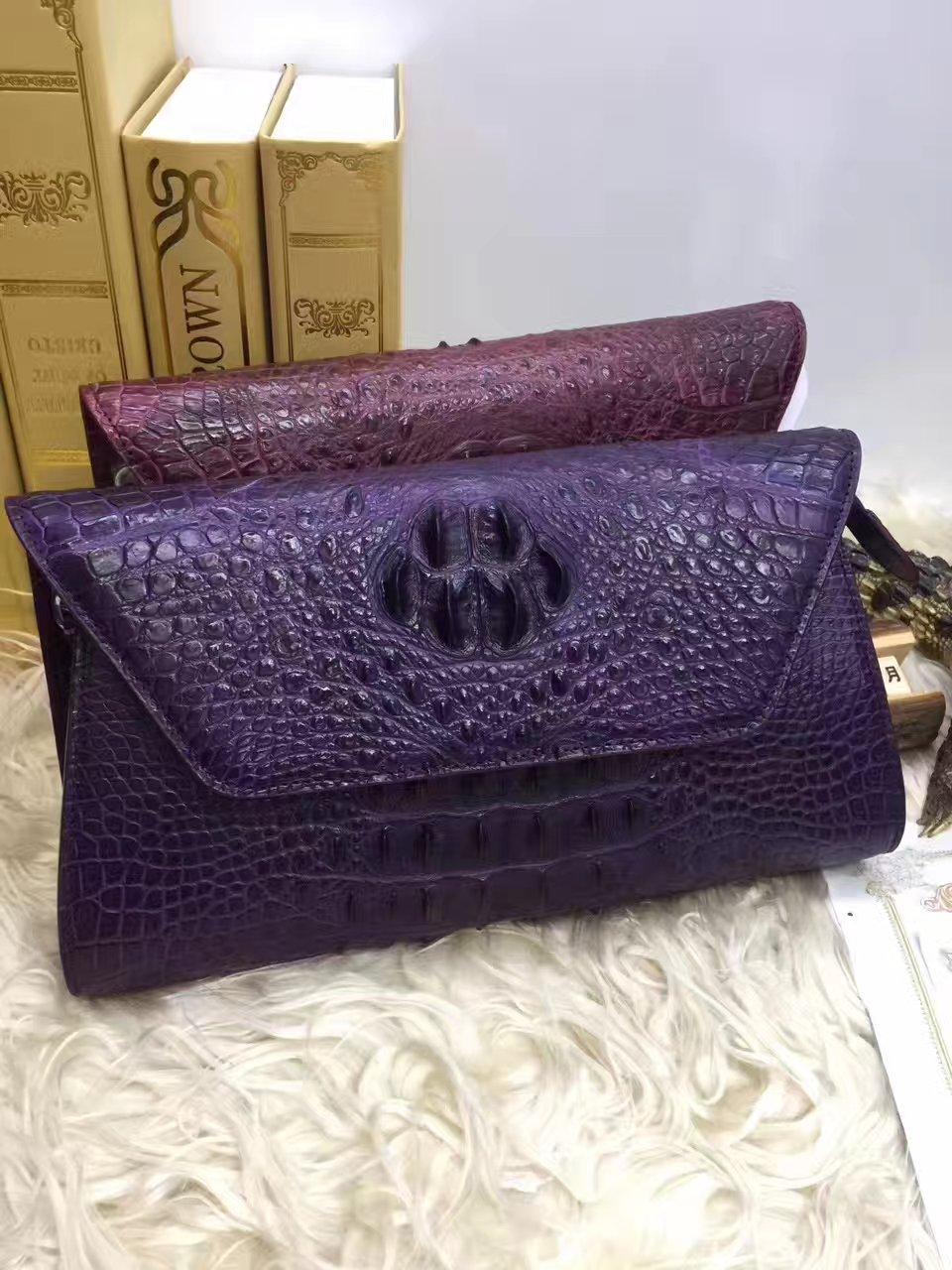 100% genuine crocodile leather skin women clutch wallets purse long, alligator skin wallets women clutch shoulder bag with strap