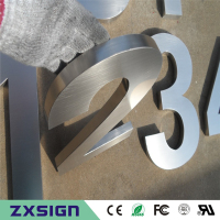 Factory Outlet Outdoor 304 Stainless Steel Numbers Stainless Steel House Numbers Metal Building Numbers