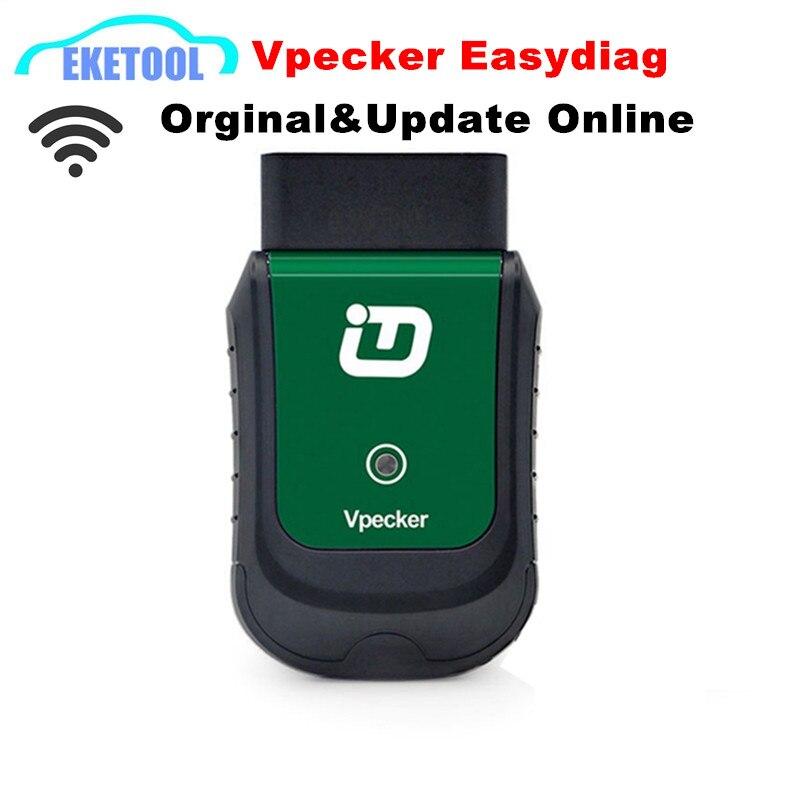 Prix pour D'origine TDINTEL Vpecker Easydiag WIFI OBDII Système Complet Outil De Diagnostic Dernières V8.1 Avec Fonction de Réinitialisation de L'huile Prend En Charge Windows 10
