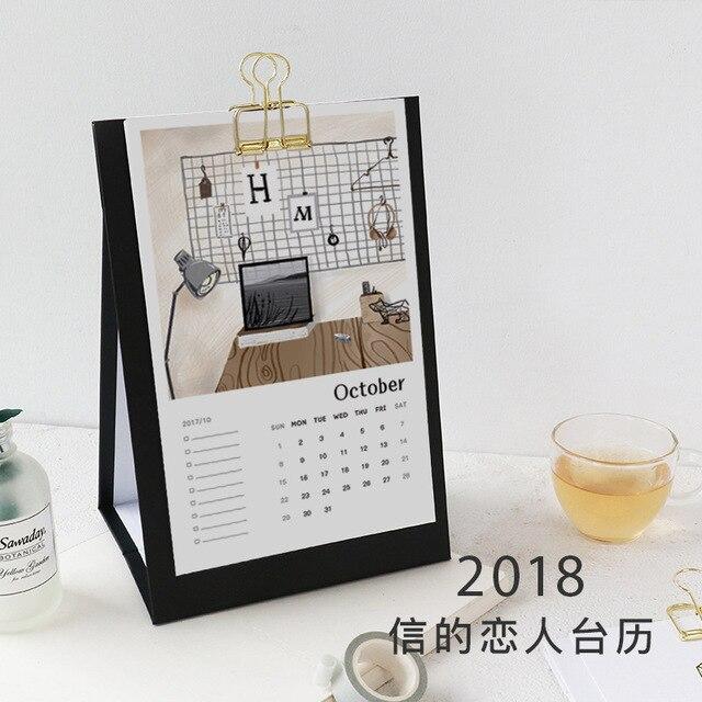 2018 год жизни Desktop Бумага Календари двойной ежедневный планировщик стоял стол планировщик ежегодно повестки дня организатор 14*21 см