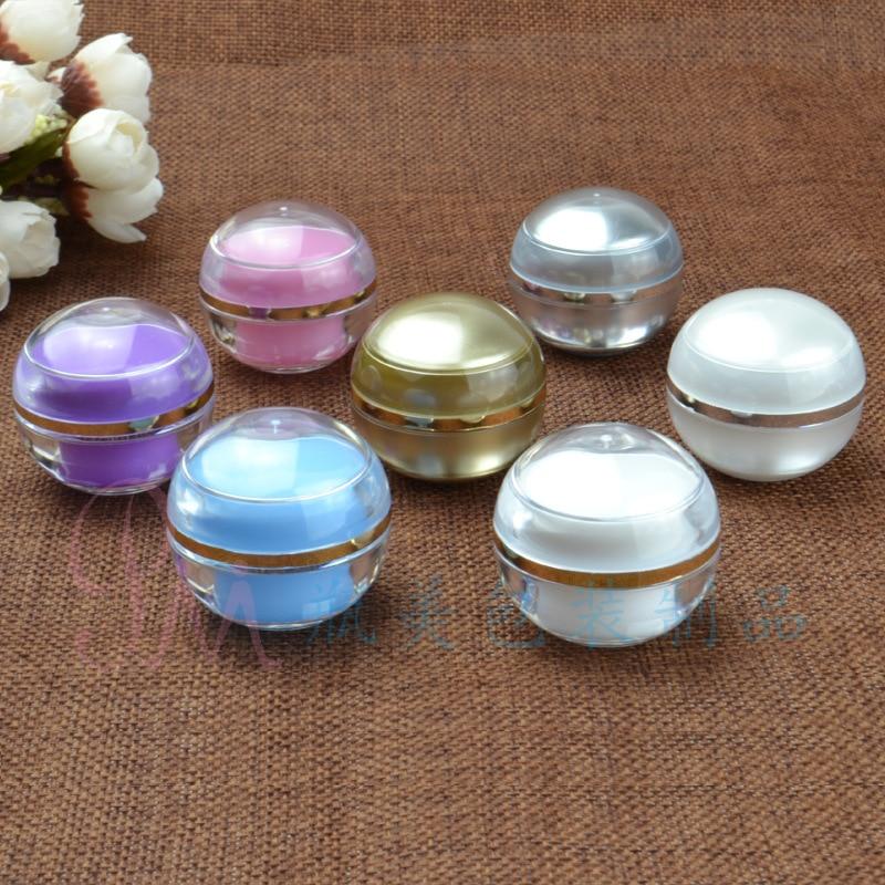 mancha, 5g forma pequena bola de Acrílico frascos de cosméticos