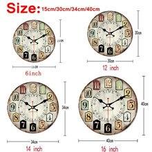 Wooden Wall Clock Modern Style