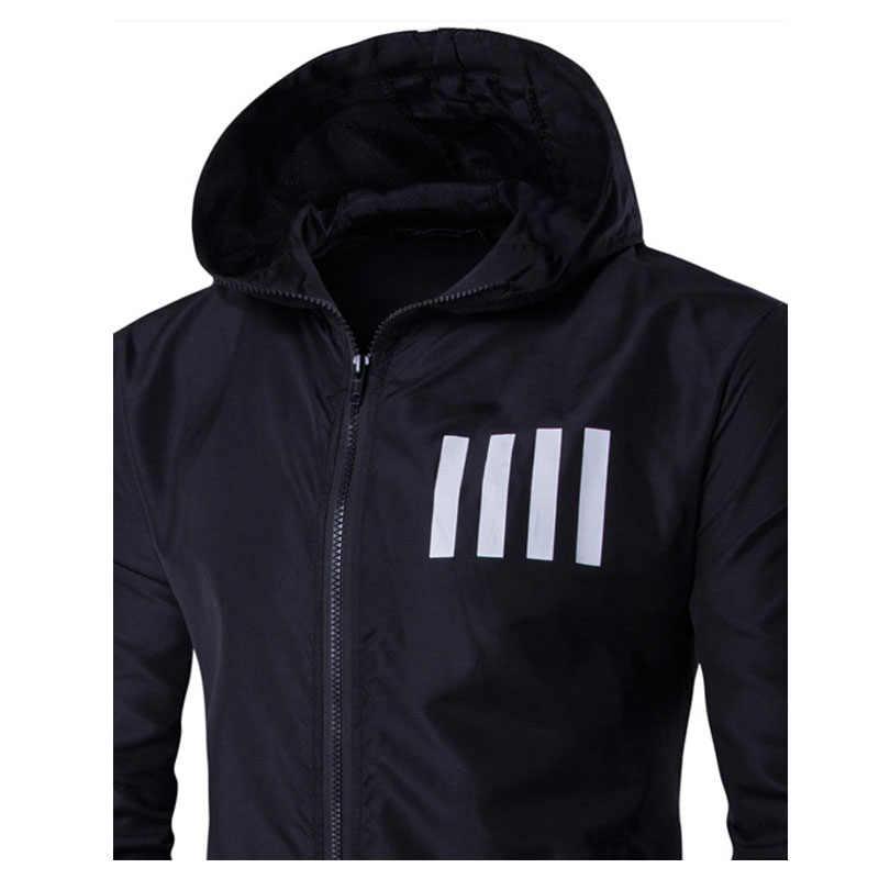 Новинка весна осень бомбер мужская куртка с капюшоном Повседневная тонкая Лоскутная мужская куртка-ветровка верхняя одежда на молнии тонкое пальто брендовая одежда