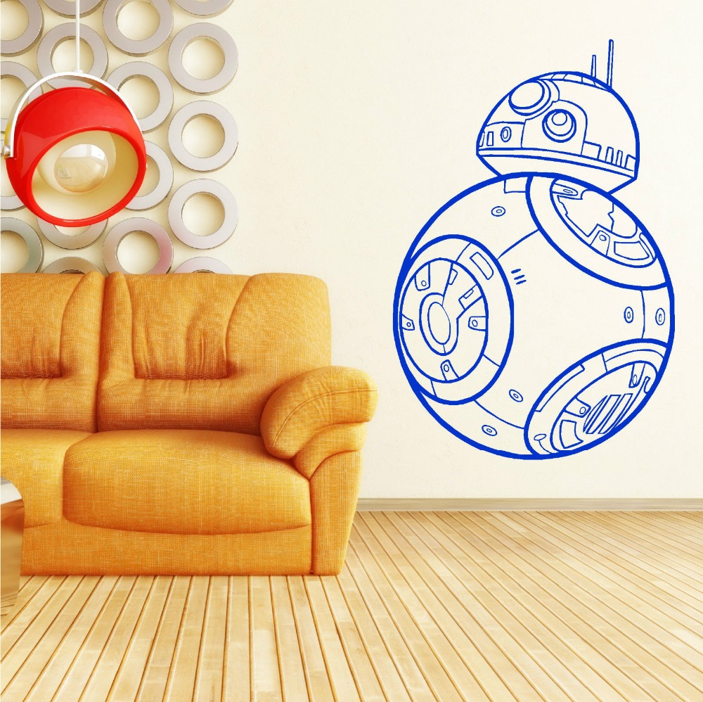 ECO-FRIENDLY STAR WARS BB-8 DROID THE FORCE AWAKENS Vinyl Wall Art ...