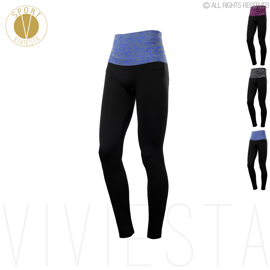 Leopard Print High Rise Sports Leggings – Women's Yoga Running Gym Training Workout Waistband Full Length Long Tights Pants