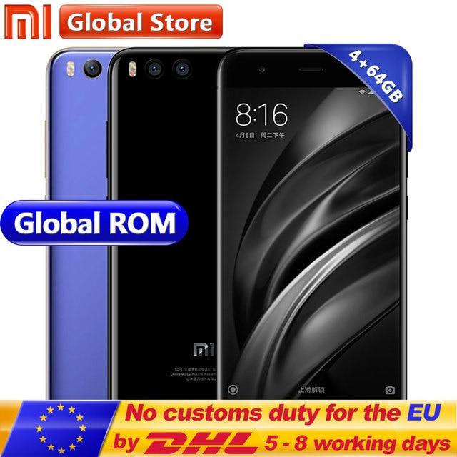 Oryginalny Xiao mi mi 6 mi 6 4 gb 64 gb Snapdragon S835 Octa Rdzeń Android Telefon komórkowy 5.15 Cal 1920x1080 Dual 12.0MP 3350 mah