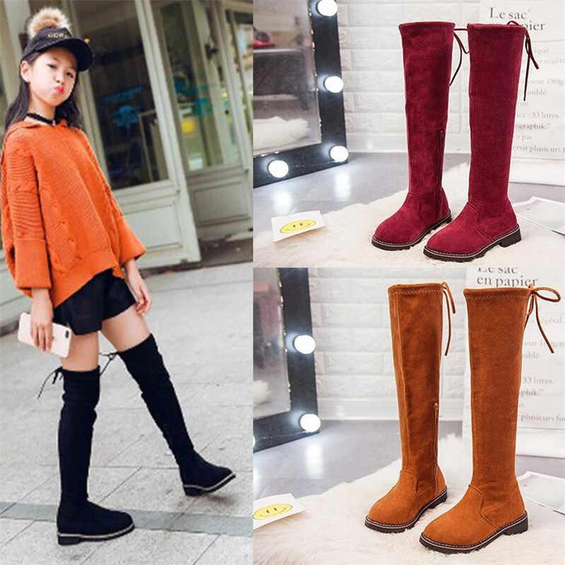 Autumn Winter Girls Boots Children High