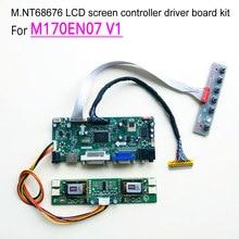 For M170EN07 V1 computer LCD monitor CCFL 4-lamp 60Hz LVDS 1280*1024 30-pins 17″ M.NT68676 display controller driver board kit