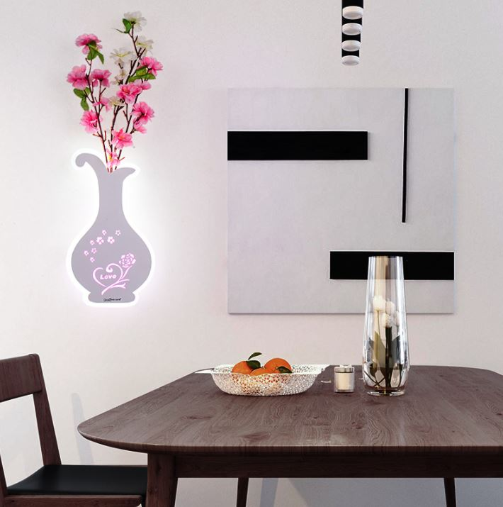 LED creative personality wall lamp living room bedside simple bedroom decoration vase with flower wall lamp|LED Indoor Wall Lamps| |  - title=