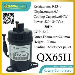 690 W Cooling capaciteit koelvloeistof compressor (R134a) geschikt voor enkele deur commerce rvs display en vriezer