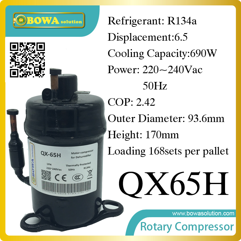 690W Cooling capacity coolant compressor (R134a) suitable for single door commerce stainless steel display and freezer 520w cooling capacity fridge compressor r134a suitable for supermaket cooling equipment