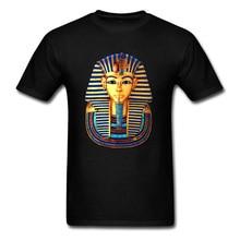 Egypt King Tut Symbol T Shirt For Men Hip Hop Retro History T-Shirt Ancient Civilization Pyramid Golden Tshirt Mens 2018