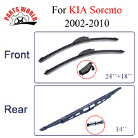 Car Wiper Blades For KIA Sorento 2002 2010 Front And Rear Windscreen Glass Frameless Brush Rubber
