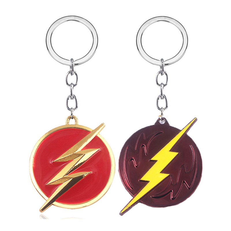 Movie The Flash Lightning Metal Keychains For Men Car Keyring Bag Accessories Jewelry