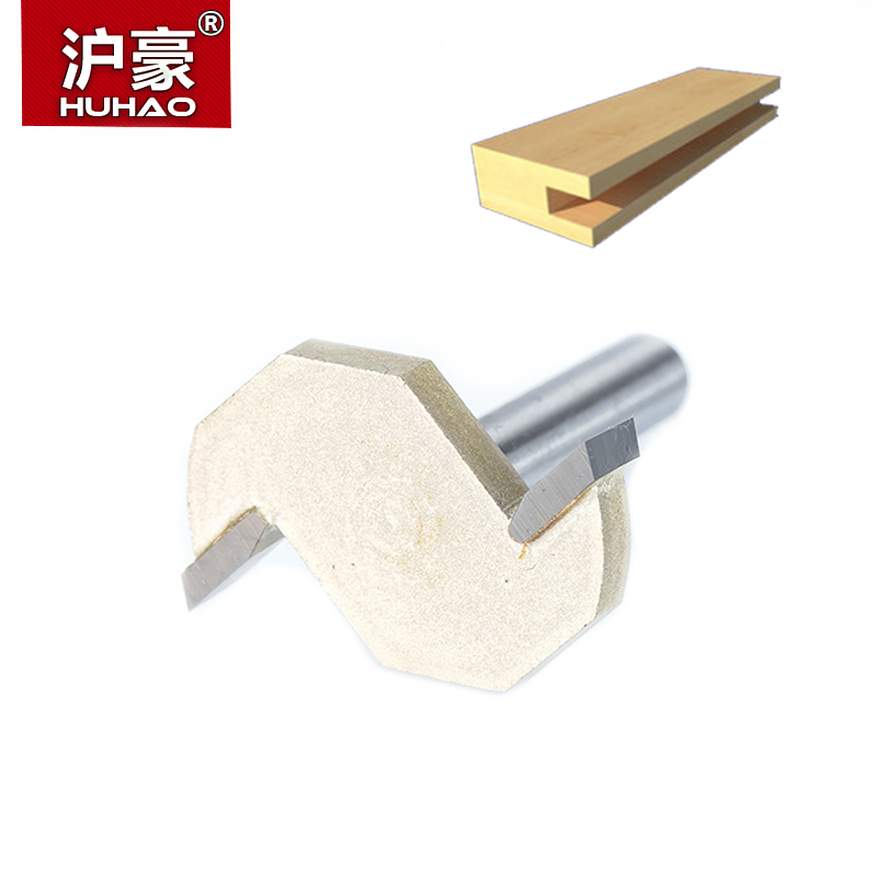 HUHAO 1pcs 1/4 Shank T type slotting cutter woodworking tool 2 Flute router bits for wood Rabbeting Bit endmill milling cutter huhao 1pc 1 2 1 4 inch t type bearings wood milling cutter industrial grade rabbeting bit woodworking tool router bits for wood