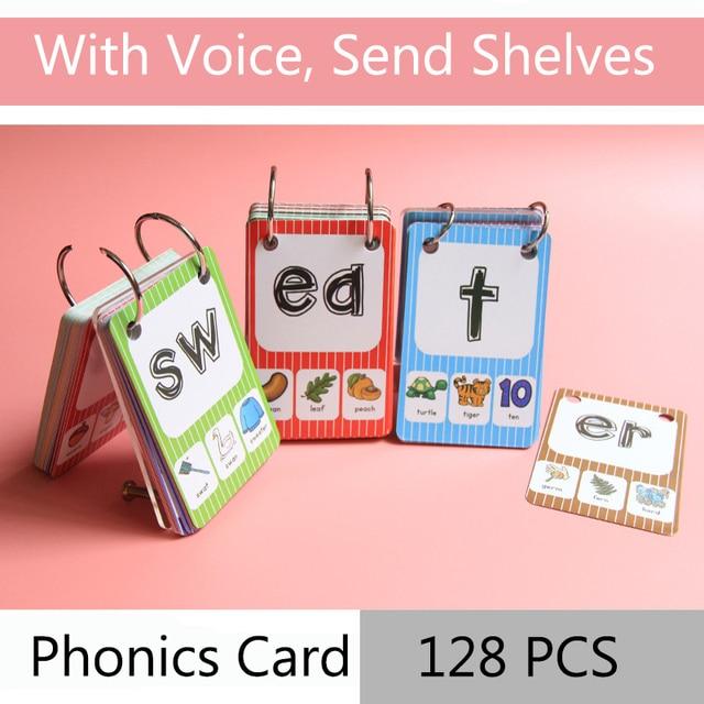 128Pcs/set English Phonics Root Pronunciation Rules Kids ...