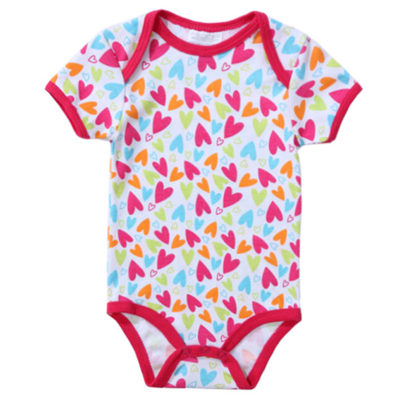 2018 Newly 100% Cotton Baby Bodysuit Summer Newborn Cotton Body Baby Short Sleeve Underwear Infant Boy Girl Pajamas Baby Clothes