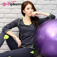 AtejiFey Professional Compression Sports Yoga Shirts Long Sleeve quick Dry Women Running T-Shirts Gym Fitness Tops Tees Ladies