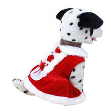 Durable Dog Clothes Santa Doggy Costumes Pet Apparel with cute dog bell