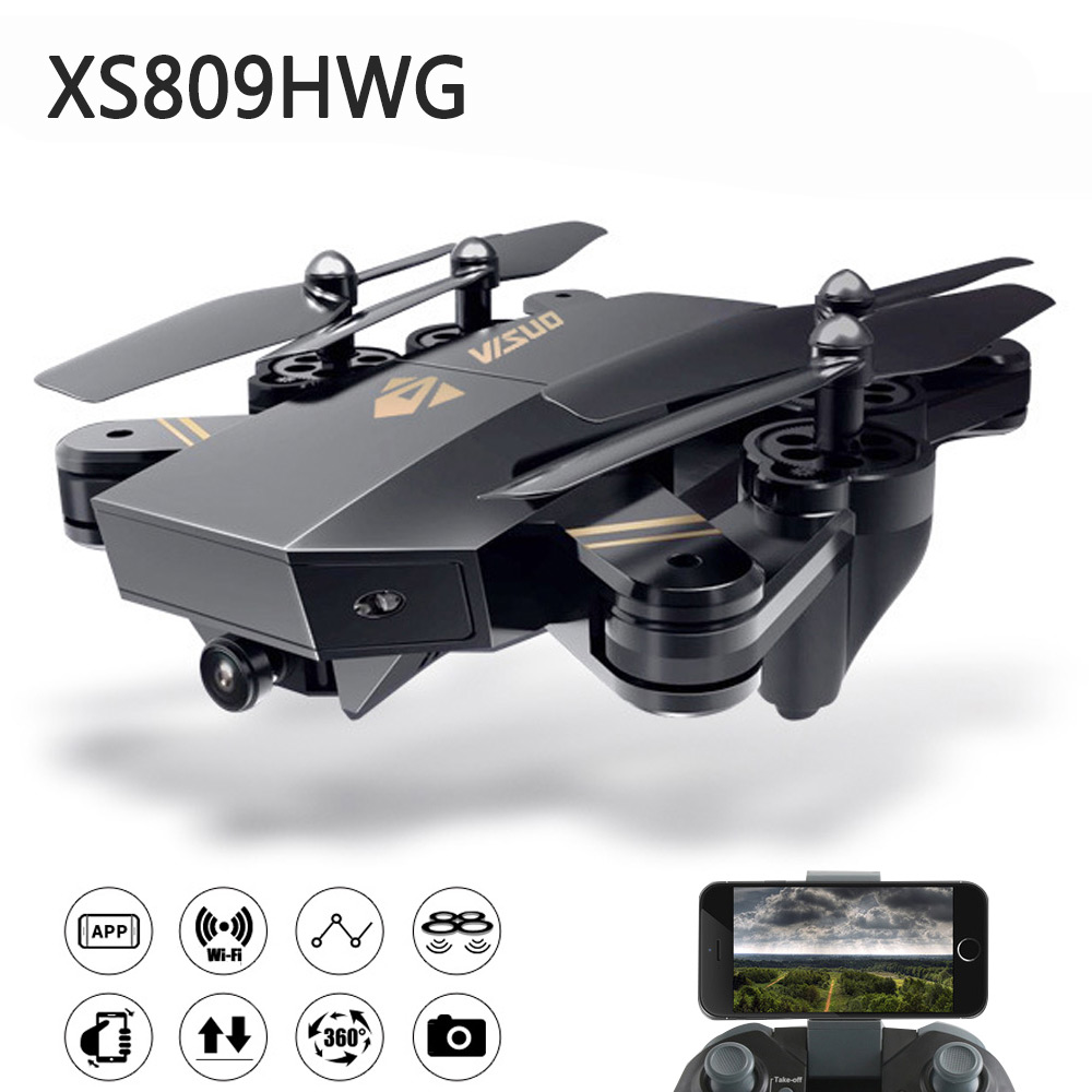 Selfie Drone With HD Camera VISUO Xs809 Xs809w Xs809hw Rc Drone Helicopter Remote Control Toy For Kids Foldable Dron selfie drone with camera visuo xs809hw xs809w fpv quadcopter rc drone 4ch helicopter remote control toy for kids foldable drone