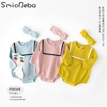 0-3 Year Baby Girls Rompers Long Sleeve Triangle Climbing Suit for Sweet Girls Baby Romper Jumpsuit 2PCS Sets Infant Rompers