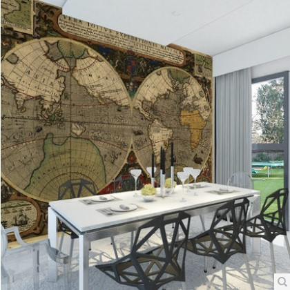 Custom 3d photo wall paper European retro nautical maps den TV sofa background 3d mural wallpaper wall painting for living room shinehome 10m luxury european diamond trellis living room background wallpaper mural rolls for 3d wall paper geometric decal art