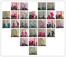Free Shipping 100pairs Shoes for barbie doll Doll Accessories For Barbie Doll high heels for barbie
