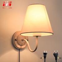 NEW Wall Lamp with plug Led Wall Sconce Brief Design Led Bed Lamps Indoor Stair Lighting Led Bedside Lamp Wall Lamp ZBD0021