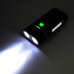 Image 4 - WOSAWE lumière de bicyclette, 2400 lumens, XML lampe à LED, lampe frontale, lampe de poche, piles 18650 rechargeables par USB, avec support