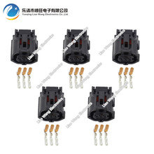 5 Sets 3 Pin 0.6 series black car waterproof connector harness DJ7032Y-0.6-21 3P