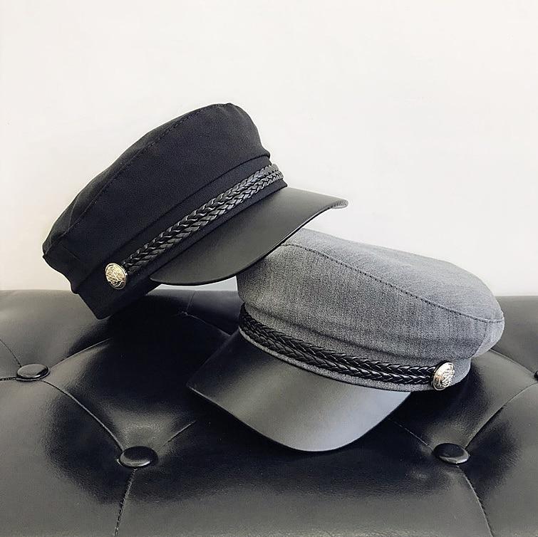 Nueva octogonal sombreros periódicos Retro literario femenino del snapback sombrero de ocio para mujeres hombre Vintage octogonal hembra tapa ocasional