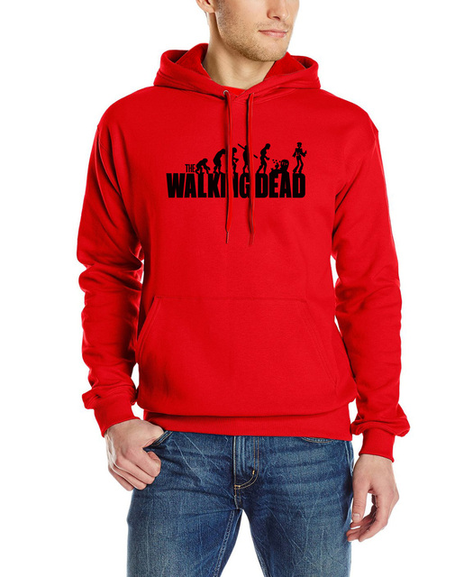 2017 New style autumn Printed Cotton Men hoodies the walking dead sweatshirt long sleeve streetwear Men's fashion brand clothing