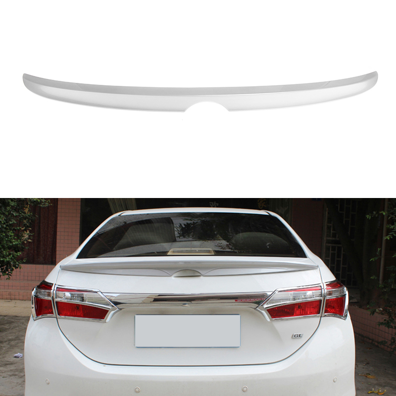Car Styling Rear Trunk Spoiler For Toyota Corolla 2013+ 2014 2015 Without The Paint Car-styling Auto Decoration ABS Material car rear trunk security shield cargo cover for volkswagen vw tiguan 2016 2017 2018 high qualit black beige auto accessories