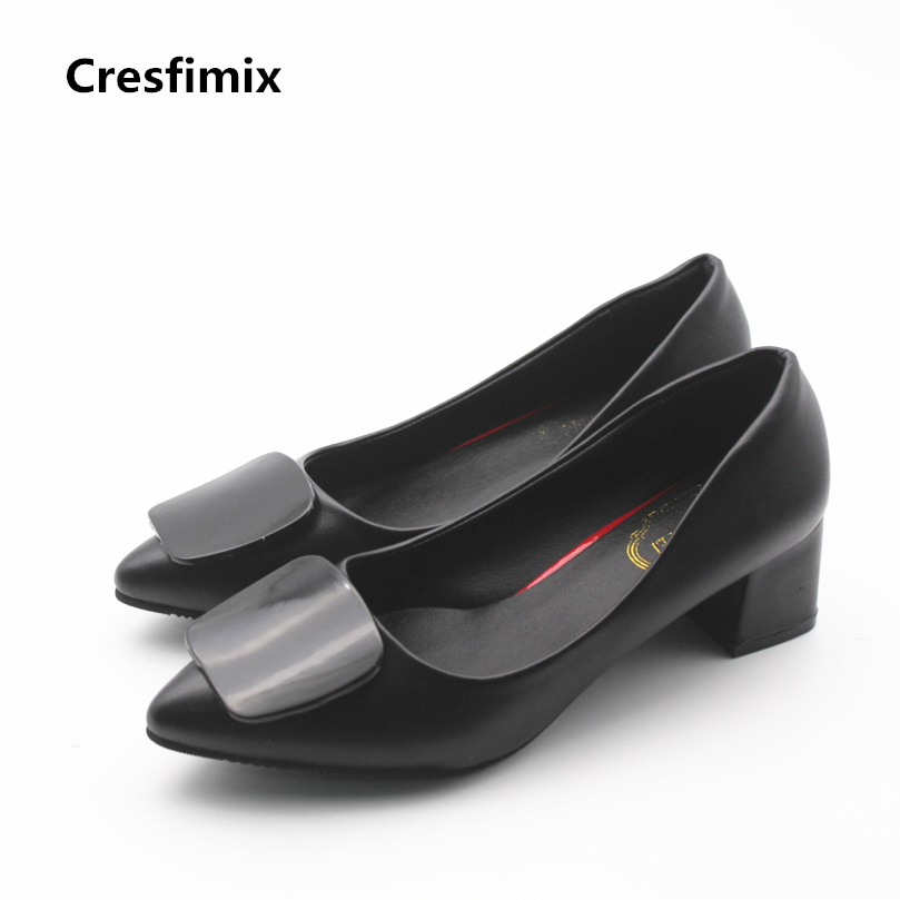 Cresfimix femmes hauts talons women fashion comfortable 5cm pu leather high heel shoes lady sexy party summer pumps female shoes cresfimix women fashion