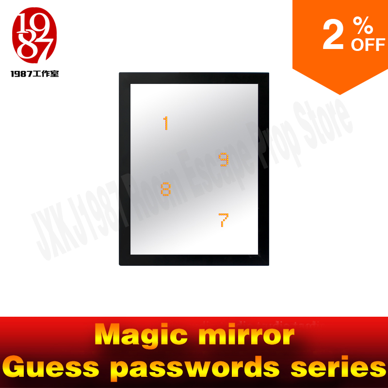 Room escape props Magic mirror guess passwords series get hidden passwords from JXKJ1987 for real life chamber room prop
