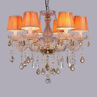 pink & cognac Kitchen crystal chandelier Lustres home lights & lighting luminaria 2017 hot sale dining room Led chandeliers