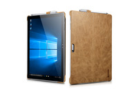 1PC Icarer Surface Pro4 Case Real Genuine Leather Case Solid Shell Stand Cover Cases For