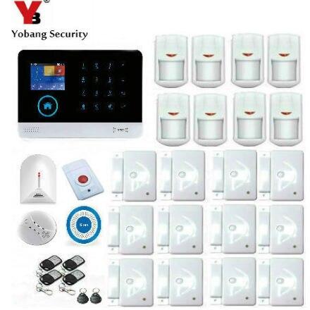 YobangSecurity Wifi font b Alarm b font System GSM Wireless Home Burglar Security System With Wireless