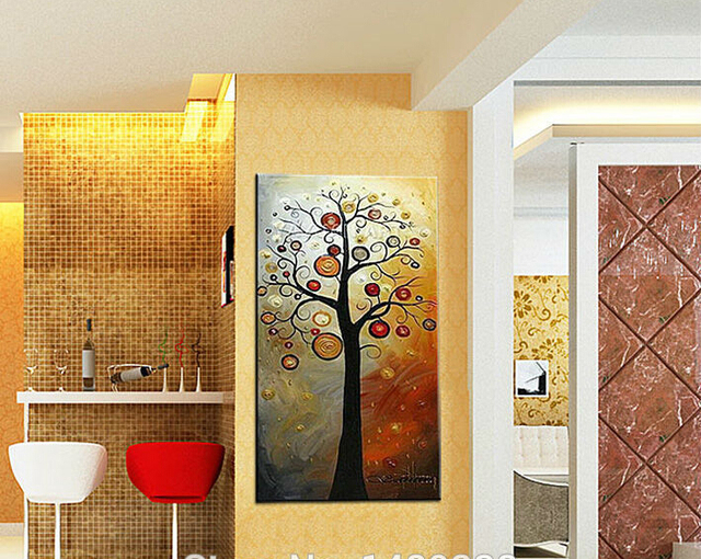 1 Panel Wall Art print painting Abstract Money tree Oil Painting ...