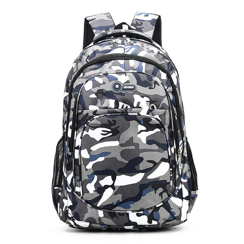 2 Sizes Camouflage Waterproof School Bags for Girls Boys Orthopedic Children Backpack Kids Book Bag Mochila Escolar Schoolbag(China)