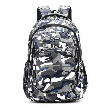 2 Sizes Camouflage Waterproof School Bags for Girls Boys Orthopedic Children Backpack Kids Book Bag Mochila Escolar Schoolbag - DISCOUNT ITEM  50% OFF All Category
