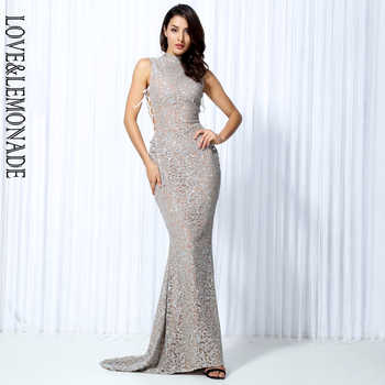 Love&Lemonade . Silver Geometric Graphic Beads Cut Out Banded Long Dresses LM0020 - DISCOUNT ITEM  10% OFF All Category