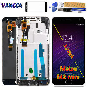 Lcd-Display Mini Meizu M2 Digitizer Assembly-Frame Touch-Screen for 1280--720 with Free-Tools