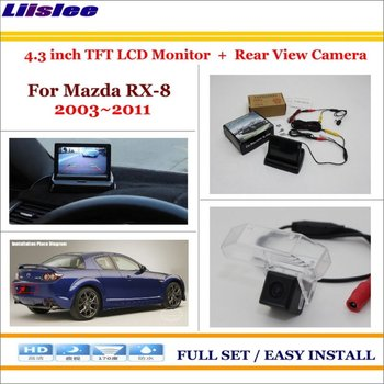 "Liislee For Mazda RX-8 2003~2011 Car Rearview Camera + 4.3"" LCD Screen Monitor = 2 in 1 Parking Assistance System"