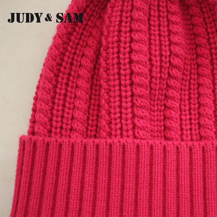 JS FUR Brand Wool Blend Girls Hat Warm Winter con pompones de piel de - Accesorios para la ropa - foto 5