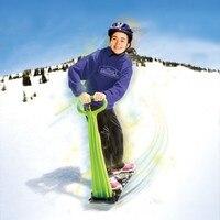 Foldable Kid's Ski Snowboard Ski Scooter with Handle Plastic Child's Skibob 2018 New Style Free Ride Snowboogie 92cm